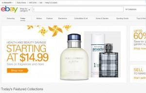 my eBay homepage