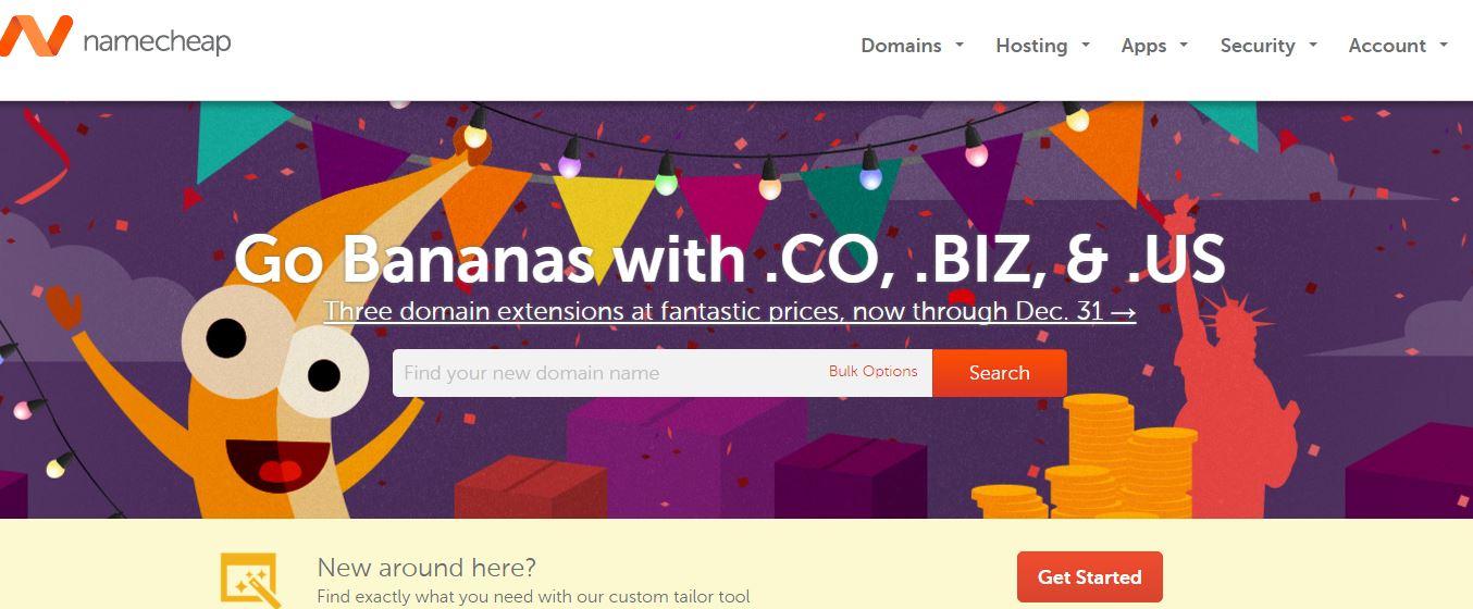 NNamecheap domain dealer
