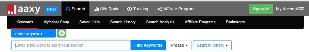 jaaxy keyword website