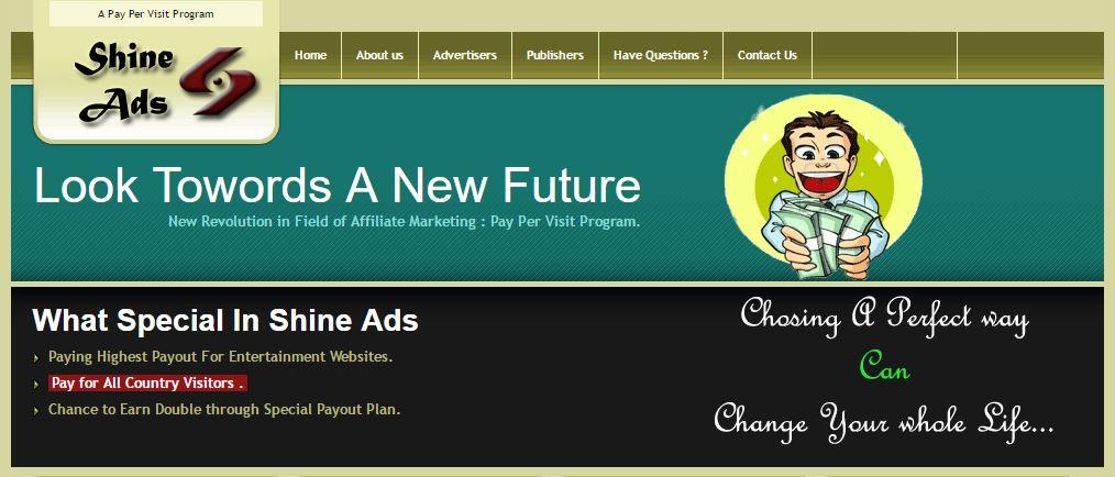 Shineads website