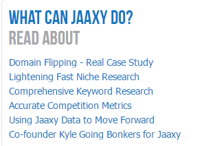 Training feature of jaaxy